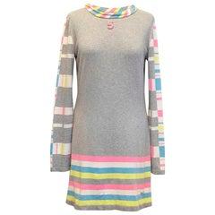 Chanel grey sweater dress US 6
