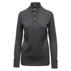 Chanel Grey Turtleneck Sweater