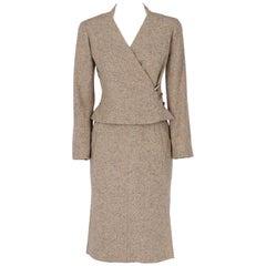 Chanel Grey Vintage Skirt Suit, 1990s