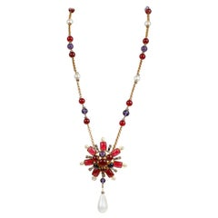 Chanel Gripoix and Pearl Starburst Necklace
