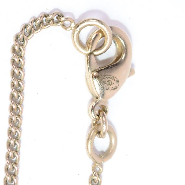 Chanel Gripoix CC Monogram Pendant Necklace Authentic in Original Box w/ Tag For Sale 7