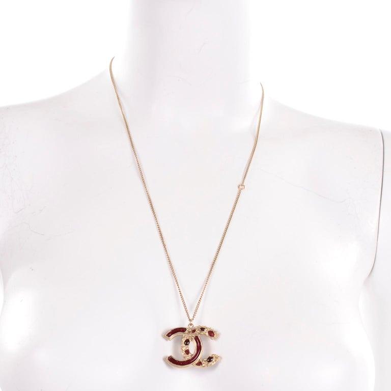 Chanel Gripoix CC Monogram Pendant Necklace Authentic in Original Box w/ Tag In New Condition For Sale In Portland, OR