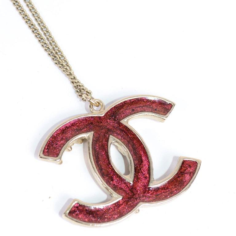 Chanel Gripoix CC Monogram Pendant Necklace Authentic in Original Box w/ Tag For Sale 2