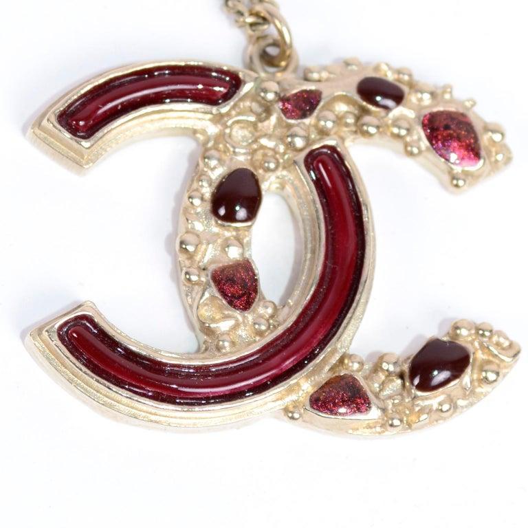 Chanel Gripoix CC Monogram Pendant Necklace Authentic in Original Box w/ Tag For Sale 4