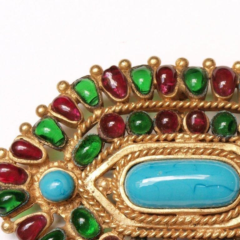 Chanel Gripoix  Mughal Brooch / Pendant Autumn 1993 For Sale 1