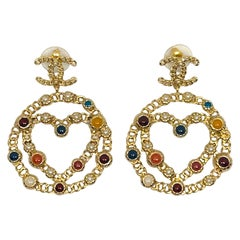 Chanel Gripoix & Pearl Spring 2017 Pendant Earrings