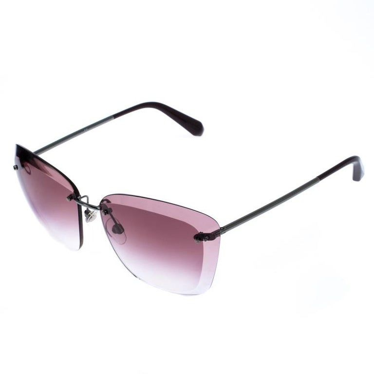 A gorgeous pair of sunglasses from Chanel calls for attention! Made from acetate and metal, these beauties carry a mesmerising silhouette. They are finished with sleek temples and gradient lenses.  Includes: The Luxury Closet Packaging, Original