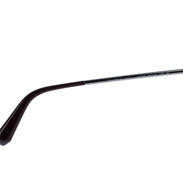 Chanel Gunmetal Tone/ Burgundy Gradient 4221 Butterfly Sunglasses For Sale 1