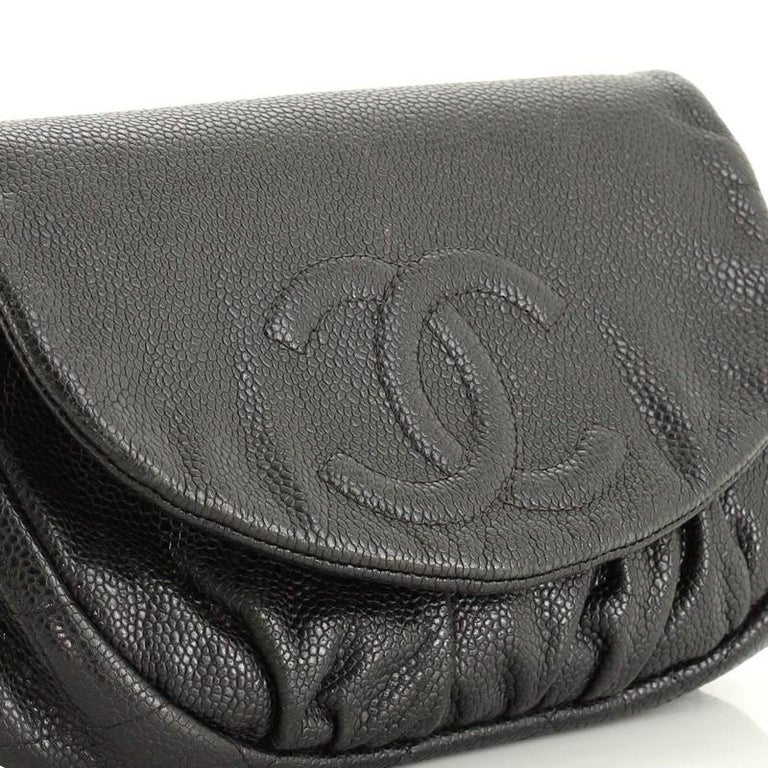 Chanel Half Moon Wallet on Chain Caviar For Sale 1