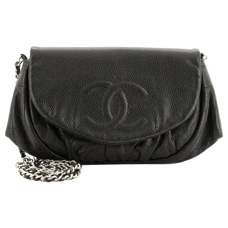 Chanel Half Moon Wallet on Chain Caviar For Sale
