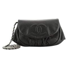 Chanel Half Moon Wallet On Chain Caviar