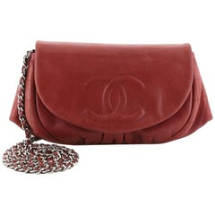 Chanel Half Moon Wallet on Chain Lambskin