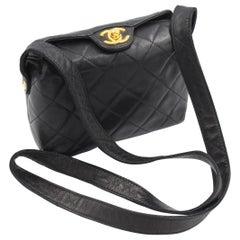 Chanel handbag in black lamb leather