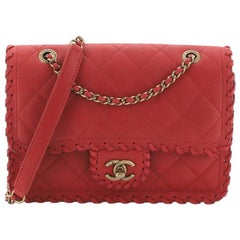 Chanel Happy Stitch Flap Bag Quilted Velvet Calfskin Small