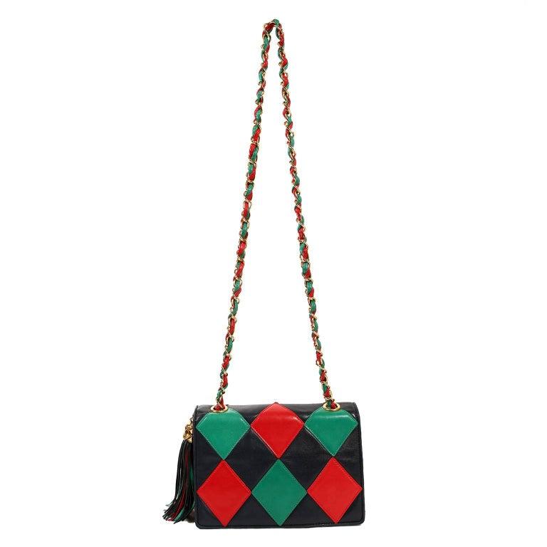 Chanel Harlequin Vintage Flap Bag For Sale 7