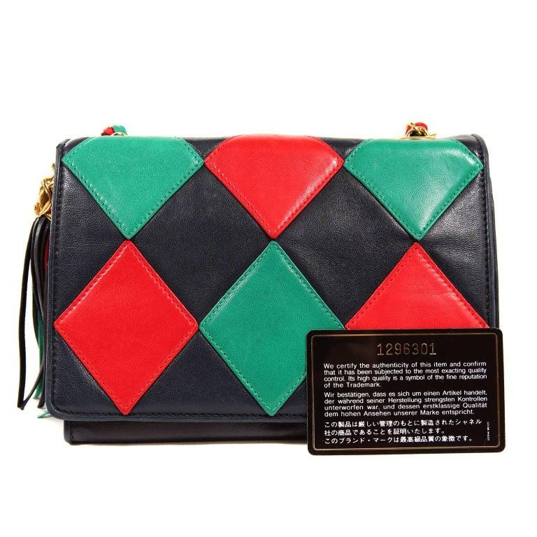 Chanel Harlequin Vintage Flap Bag For Sale 8