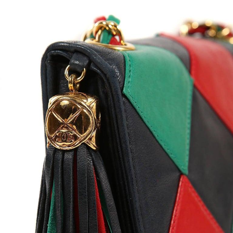 Women's Chanel Harlequin Vintage Flap Bag For Sale