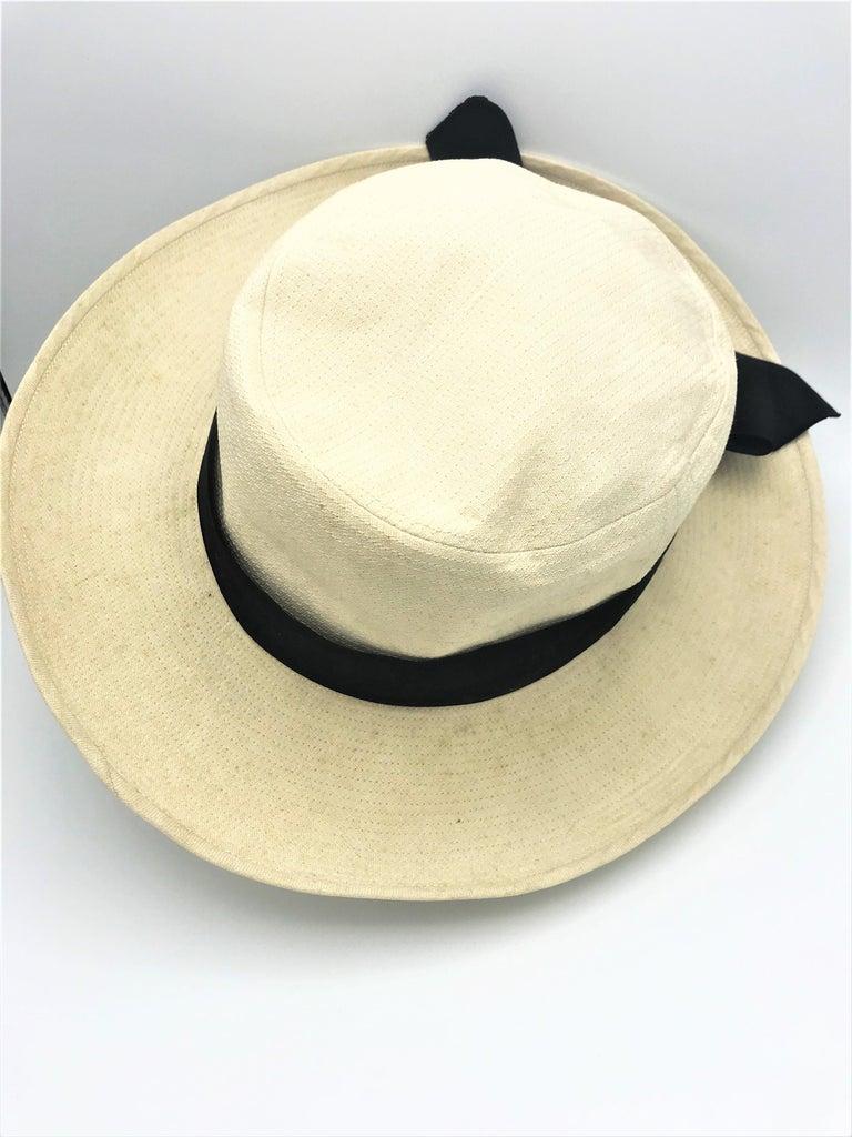 CHANEL HAT beige cotton size 59  For Sale 3