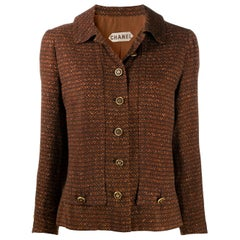 Chanel Haute Couture Brown Textured Jacket