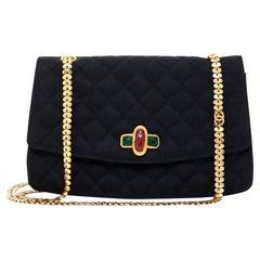 Chanel, Haute Couture in black silk