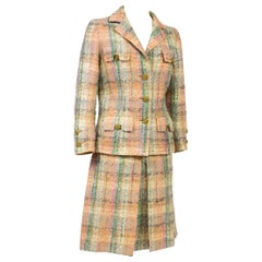 Chanel Haute Couture skirt suit in Mohair wool tweed numbered 48863 Circa 1970