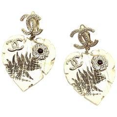 CHANEL Heart Stud Earrings