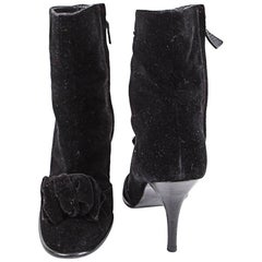 Chanel Heeled Ankle Boots Size 39