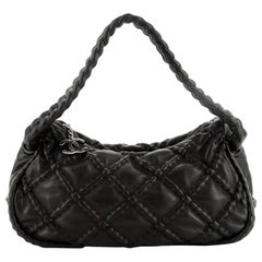 Chanel Hidden Chain Hobo Quilted Lambskin Small