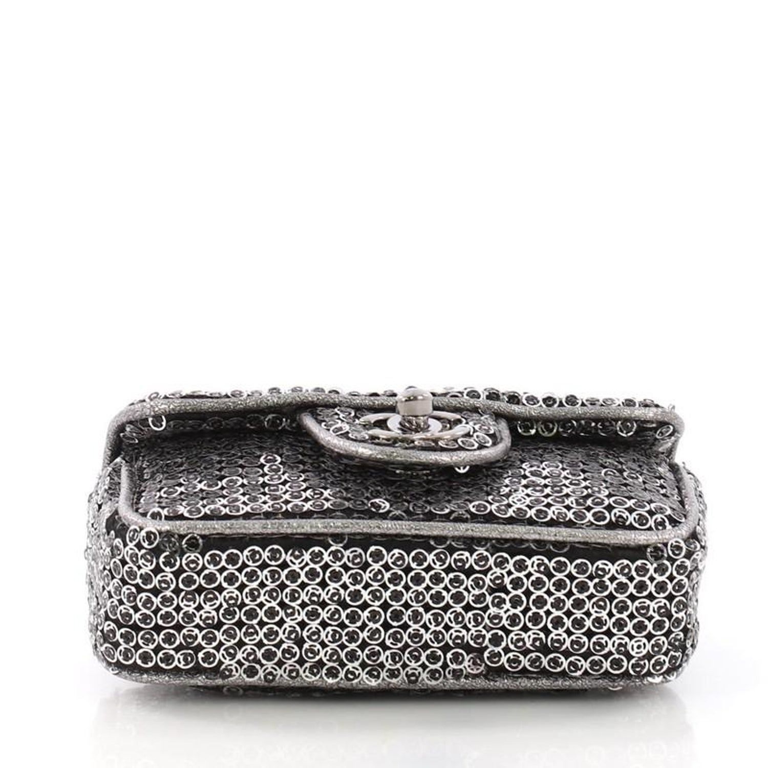 8dc8f0811450 Chanel Hidden Sequins Flap Bag Quilted Sequins Extra Mini at 1stdibs