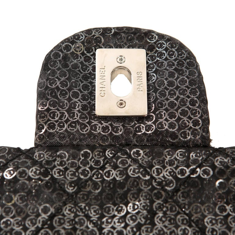 Chanel Hidden Sequins Jumbo Classic Flap Bag For Sale 5