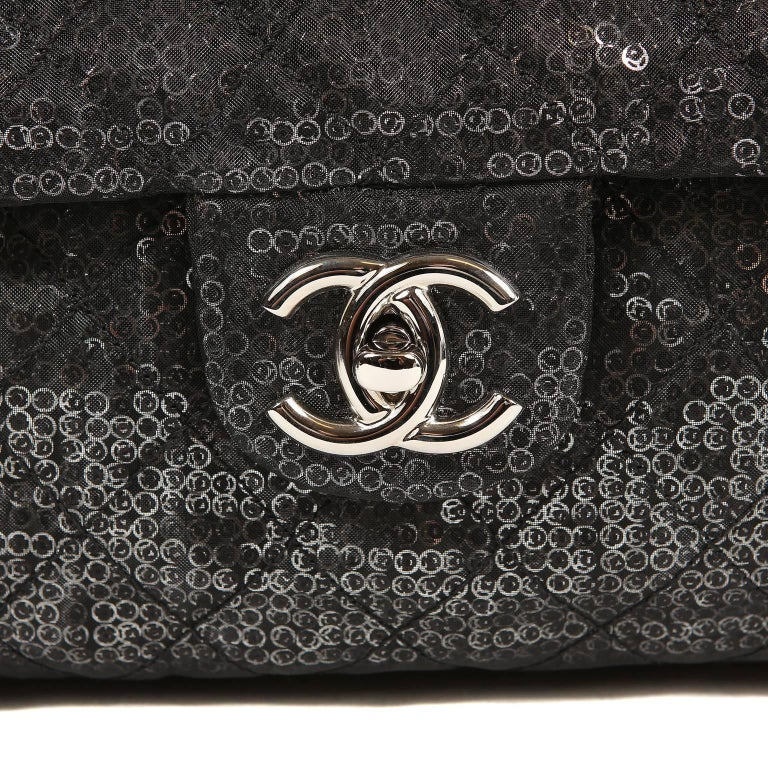 Women's Chanel Hidden Sequins Jumbo Classic Flap Bag For Sale