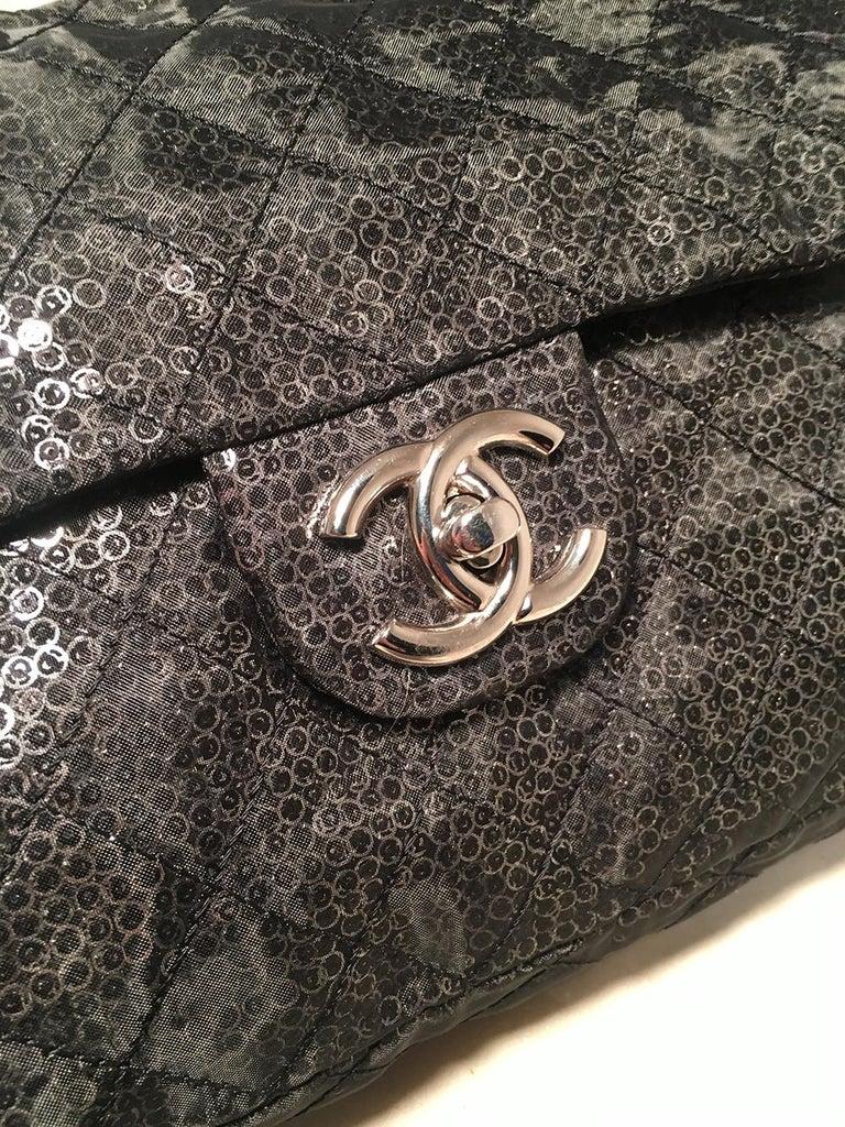 6a3a9558880f Women's Chanel Hidden Sequins Mesh Jumbo Classic Flap Shoulder Bag For Sale