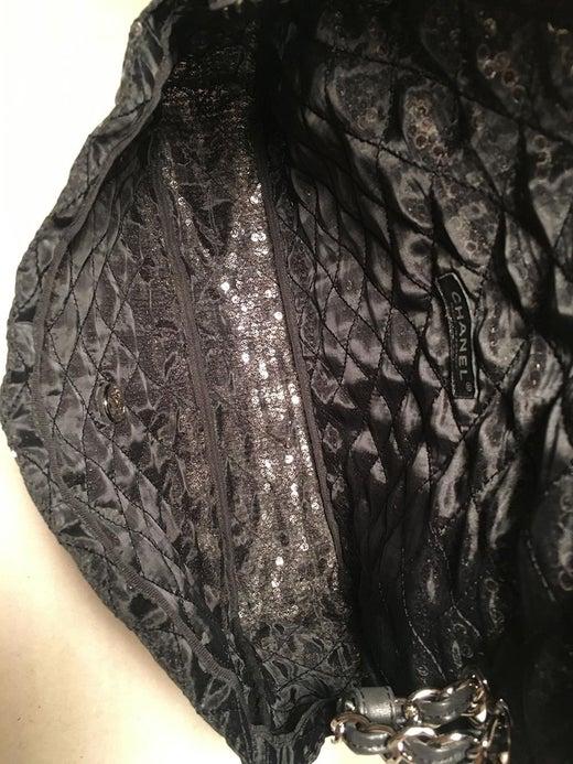 30ebdb27699c Chanel Hidden Sequins Mesh Jumbo Classic Flap Shoulder Bag For Sale at  1stdibs