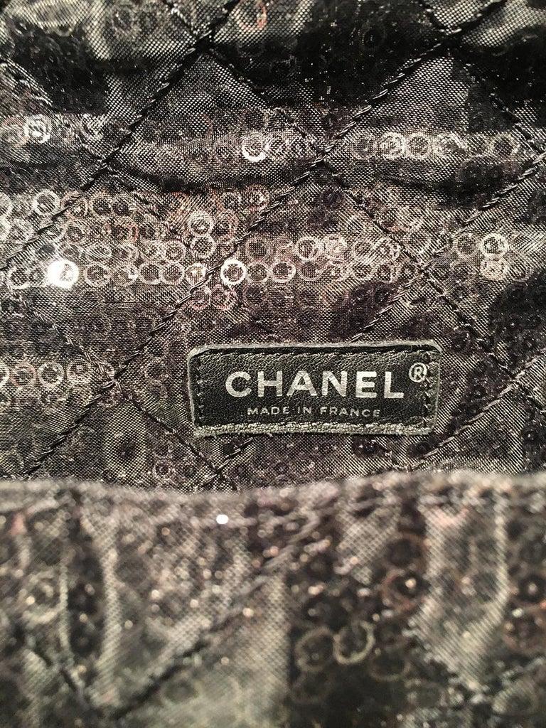 393fa115e6de Chanel Hidden Sequins Mesh Jumbo Classic Flap Shoulder Bag For Sale ...
