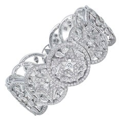 Chanel High Jewelry 18k White Gold and Diamond Bracelet, Les Intemporels Collect