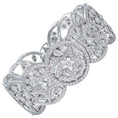 Chanel High Jewelry White Gold and Diamond Bracelet, Les Intemporels Collection