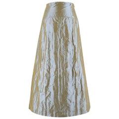 Chanel High Waist Iridescent Stitch Embroidered Silk Skirt SIZE 38