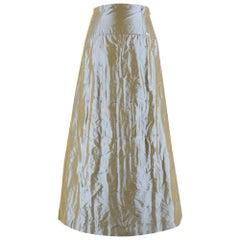 Chanel High Waist Iridescent Stitch Embroidered Silk Skirt - Size US 6