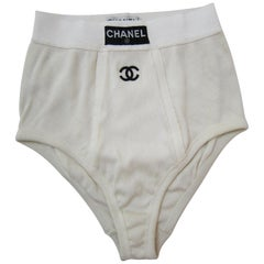 Chanel High Waist Panties Brief Underwear NWB ss 1993