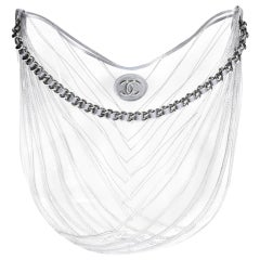 Chanel Hobo Handbag Transparent Teardrop Spring 2018 Clear Pvc Satchel