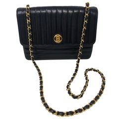 Chanel Horizontal Quilted Black Lambskin Bag