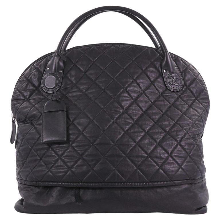 0af80eb6ae11 Chanel Horizontal Sport Weekender Bag Quilted Coated Canvas XL For Sale