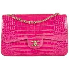 Chanel Hot Pink Alligator Jumbo Double Flap Bag No. 22586821