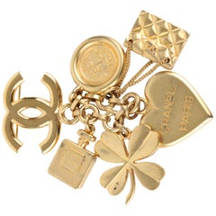 Chanel Iconic Lucky Charms Brooch - gold