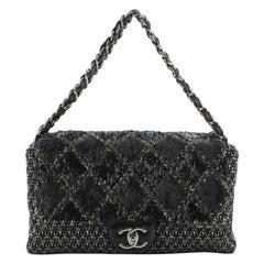 Chanel Icons 3 Bag Quilted Embellished Tweed Jumbo