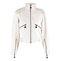 Chanel Identification Off-white Bomber Jacket US 6