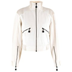 Chanel Identification Off-white Bomber Jacket US 6