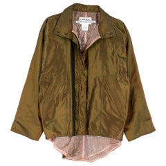 Chanel Identification Oversize Iridescent Silk Jacket - Size US6