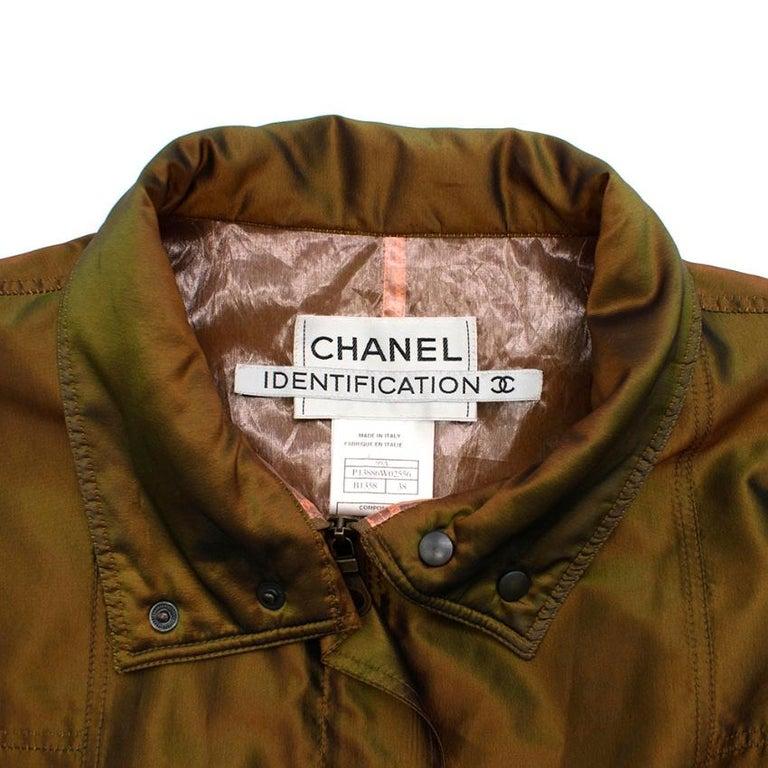 Women's Chanel Identification Oversize Iridescent Silk Jacket - Size US 6 For Sale