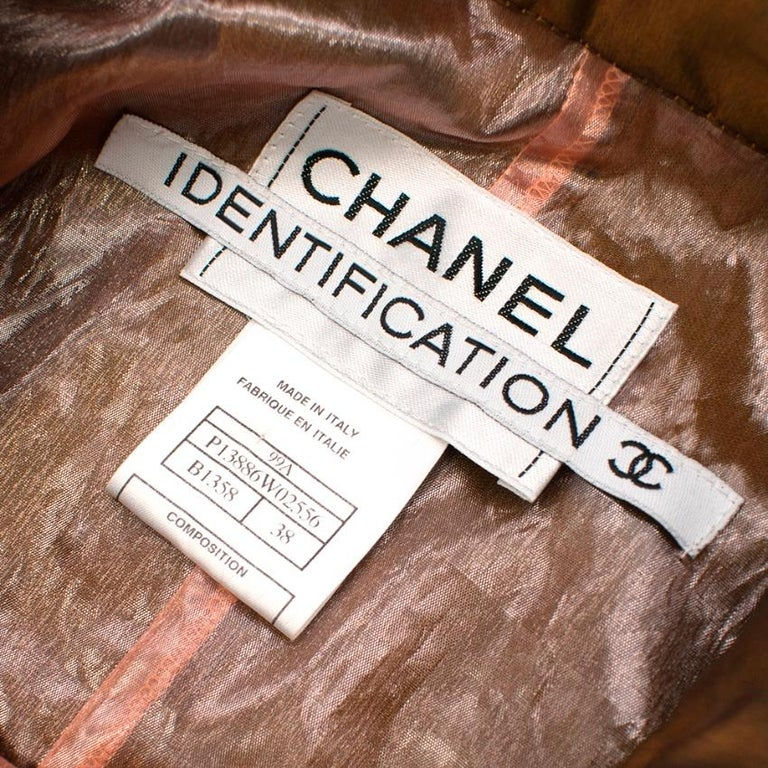 Chanel Identification Oversize Iridescent Silk Jacket - Size US 6 For Sale 1